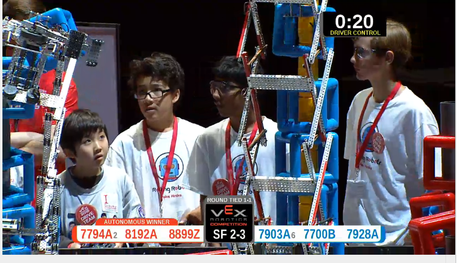 VEXWorlds2015 Rolling Robots Competition Team2