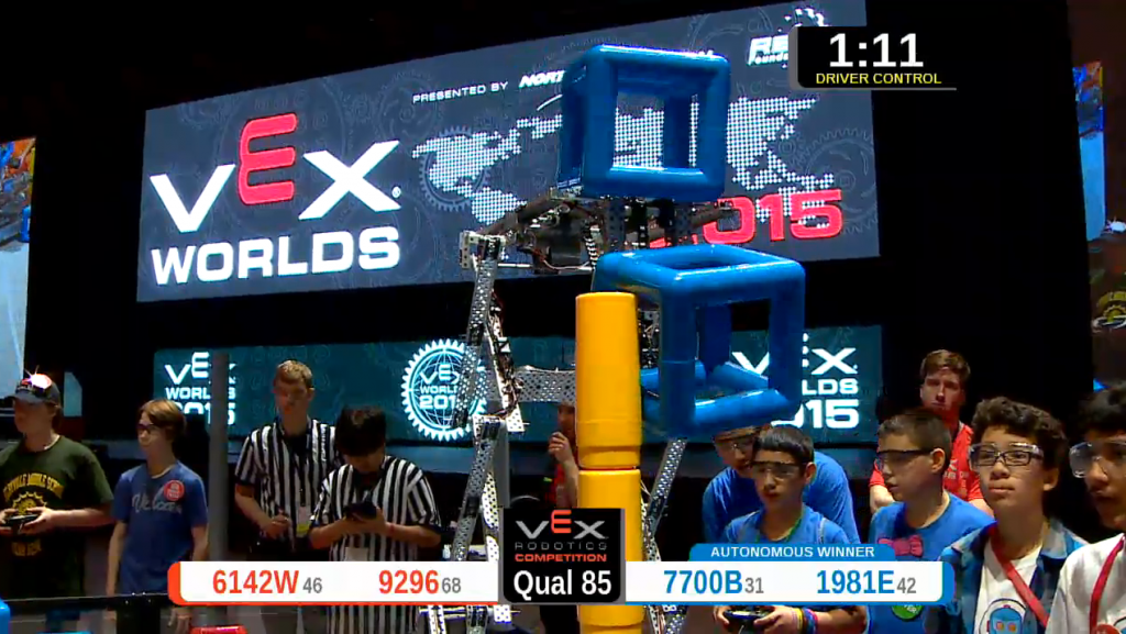 VEXWorlds2015 Rolling Robots Competition Team3