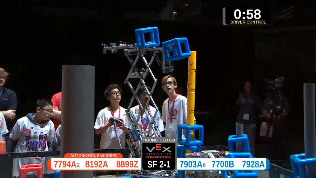 VexWorlds2015 Rolling Robots Competition Team1